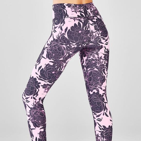 3e9dc0d79565a3 Fabletics Pants | Pink Peony Floral Print Salar Legging M | Poshmark